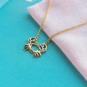 Celestial Charm Cancer Pendant Necklace + dust bag